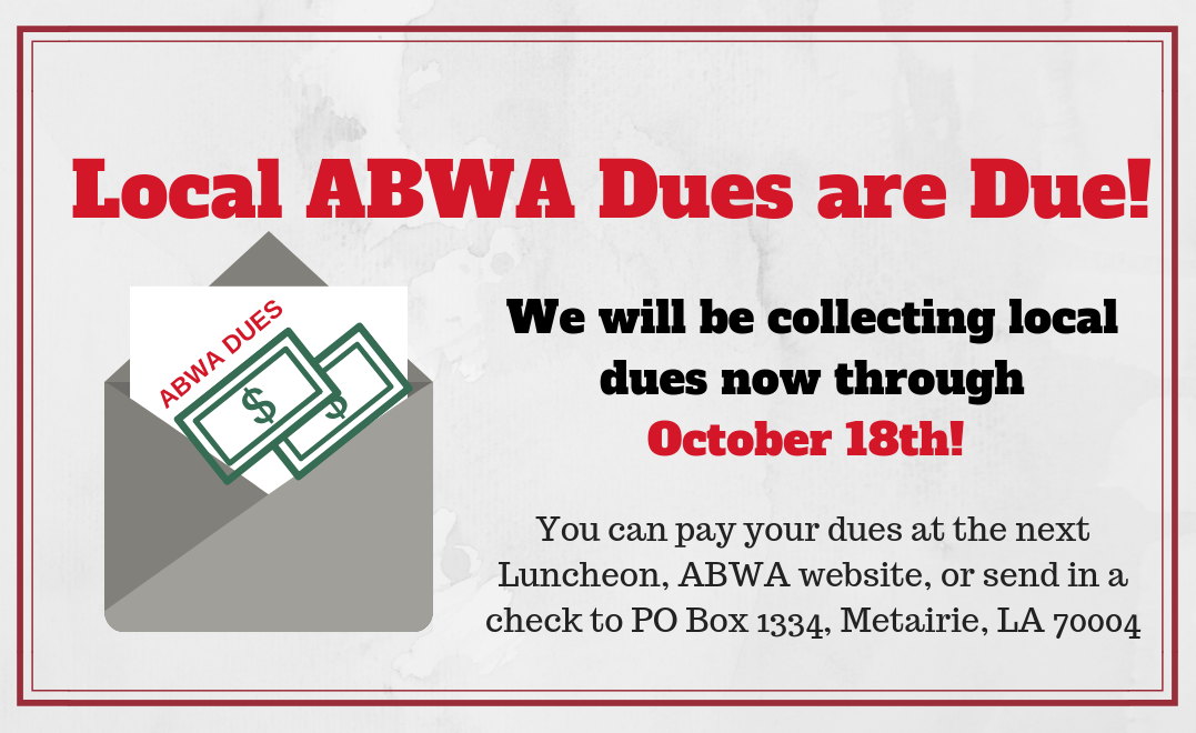 Local Annual Dues: Renew by October 18th