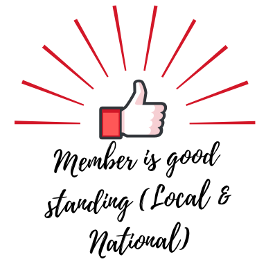 Member is good standing (Local & National) - Level 1